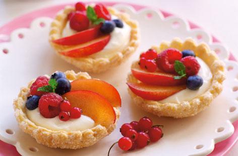 fruits tartlets